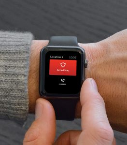 Apple Watch arming security system