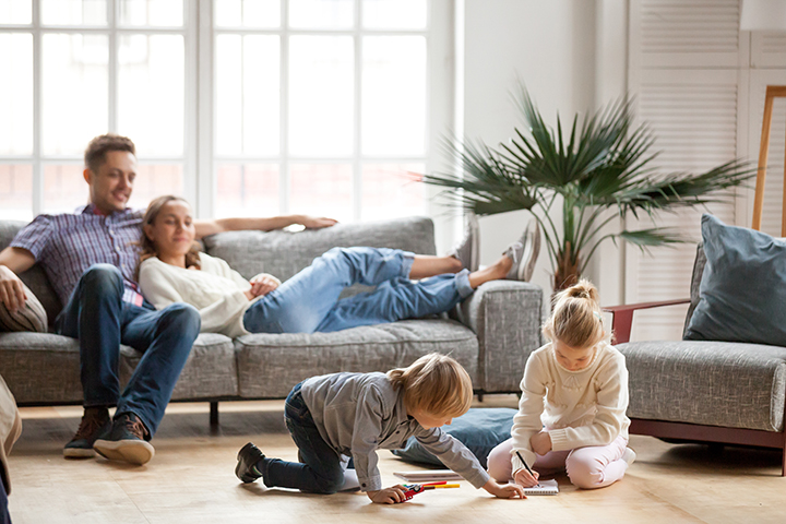 family in home safe and protected